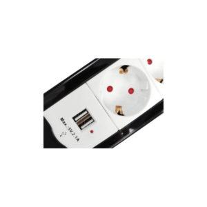 REGLETA EQUIP 4 TOMAS 1.5M + 2P USB + BOTON APAGAD