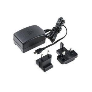 CARGADOR RASPBERRY 5.1V MICRO USB 2.5A NEGRO